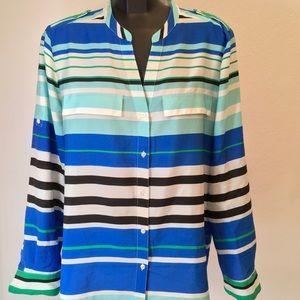 Calvin Klein Striped Blouse Size L